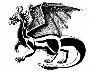 Black And White Images Of Dragons 3 Cool Wallpaper ...