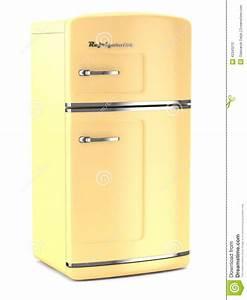 Retro Kühlschrank Gefrierkombination : retro k hlschrank auf wei em hintergrund stock abbildung bild 42343210 ~ Markanthonyermac.com Haus und Dekorationen