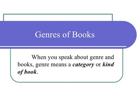 Genres Of Books