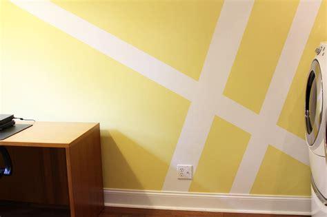 Babyzimmer Wandgestaltung Streifen by Geometric Wall Mural Laundry Room Makeover