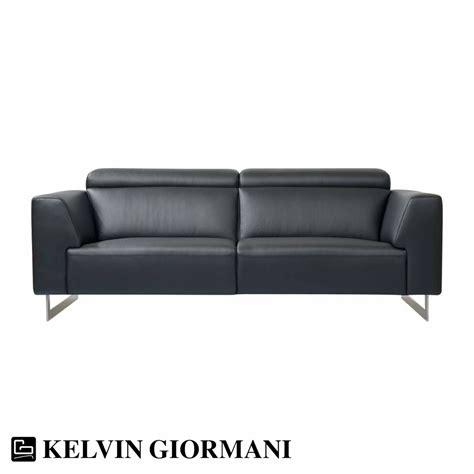 Napola Black Leather Sofa By Kelvin Giormani  Om Furniture