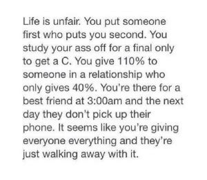 Quotes About Why Life Is So Unfair