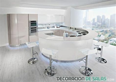 cocinas  islas semi circulares decoracion de salas