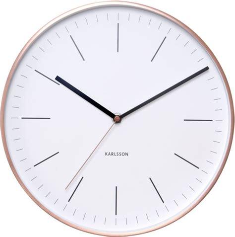 Karlsson Uhren Homepage by Bol Karlsson Minimal White Klok Rond Metaal