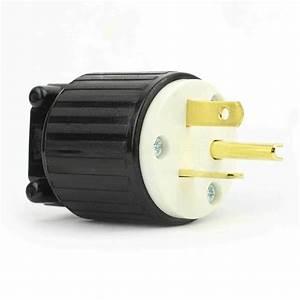 Straight Electrical Plug 3 Wire  20 Amps  125v  Nema 5