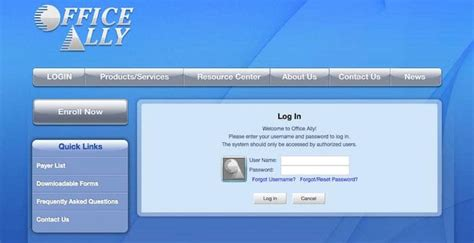Office Ally by Office Ally Login Officeally Health Information
