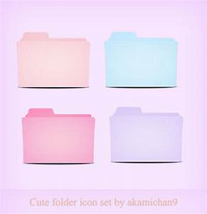 Cute folder icon set by akamichan9 on DeviantArt