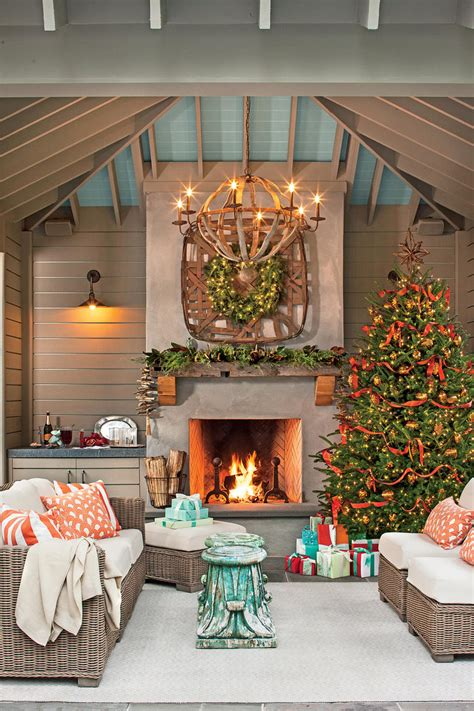 christmas patio decorating tree decorating ideas southern living