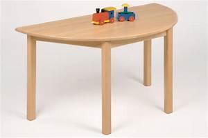 Kinderm bel tisch halbrund buche nachhaltiges aus for Tisch halbrund