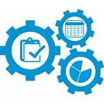 Icon Planning Compensation Managing Maintenance Transparent Flat