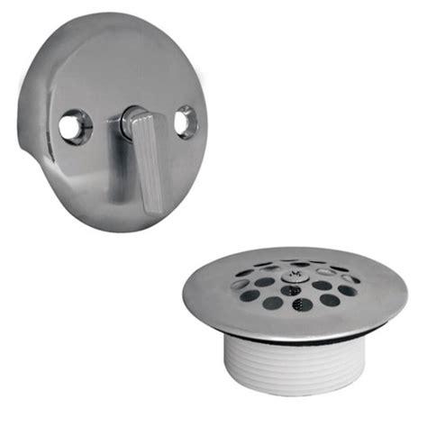 bathtub drain lever cover baby trip lever tub drain trim kit with overflow in chrome danco