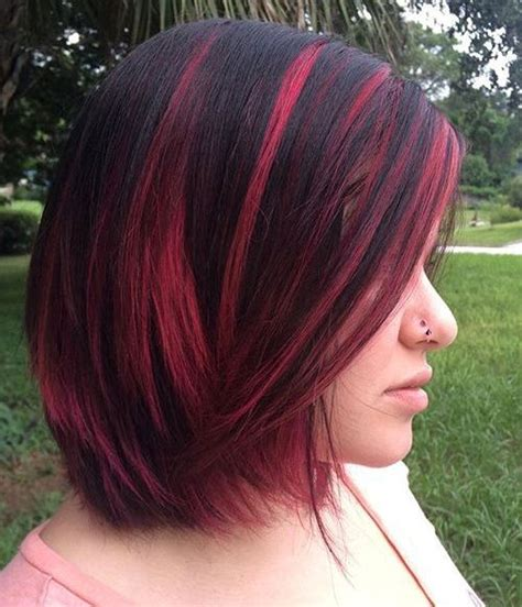 With Pink Highlights Hairstyles by 40 Best Pink Highlights Ideas For 2018