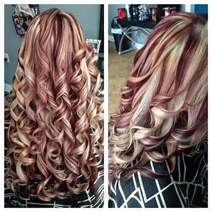 Blonde Highlights Red Lowlights Hair Colors Ideas