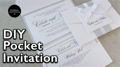 Diy Pocket Envelope Wedding Invitation wedding