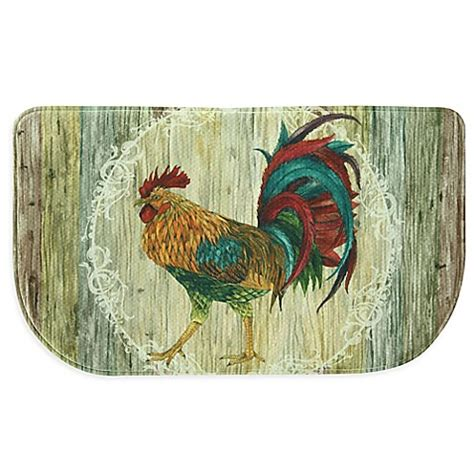 Kitchen Mat Rooster by Bacova Rooster Strut 18 Inch X 30 Inch Memory Foam Slice