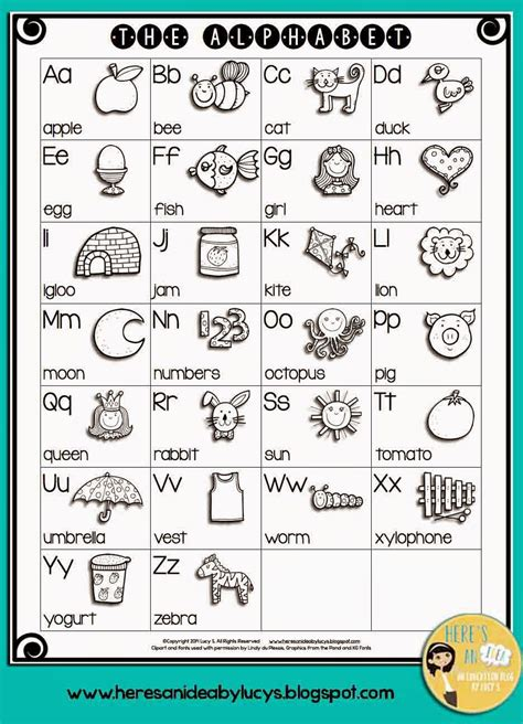 alphabet chart free b w alphabet chart color the