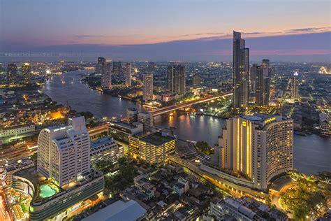 Bangkok View point | View of Bangkok skyline and Chao ...