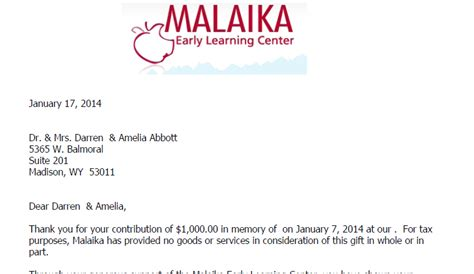 email acknowledgement letters and email donation receipts