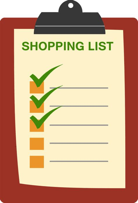 Free Cliparts Shopping List Download Clip Art