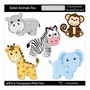 Baby Safari Animals Clipart - Cliparts.co