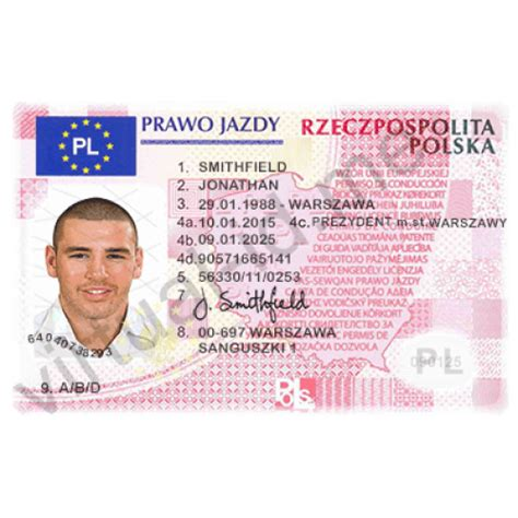 This Is Excellent Copy Of The Poland Drivers Licence Or