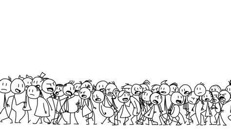 Finn And Jake Wallpaper Stick Figure Crowd By Finnjr63 On Deviantart