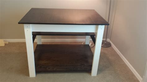ana white craft  fabric cutting table diy projects