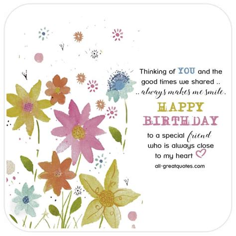 There's a reason the tradition of birthday cards has endured. Happy Birthday to a special Friend - Very Cute Free Friend Birthday Cards