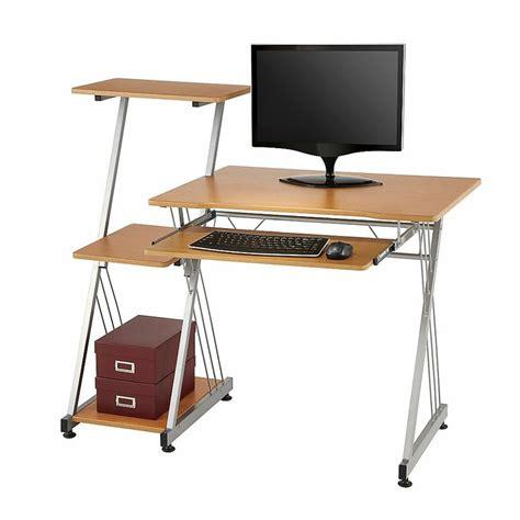 office depot computer desk limble ii computer desk 39 38 h x 46 w x 21 12 d birch by