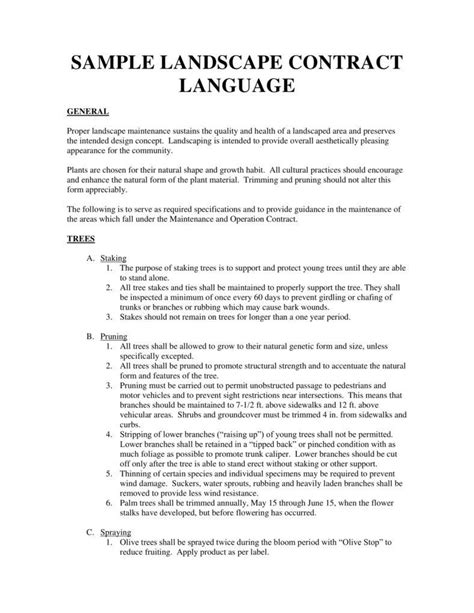 landscape contracts forms 6 landscaping services contract templates pdf free