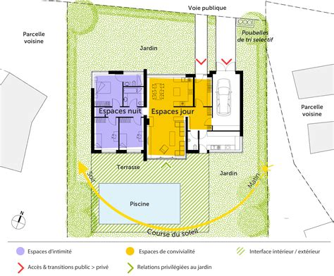 plan de maison 3 chambres salon plan maison contemporaine de plain pied avec 3 chambres