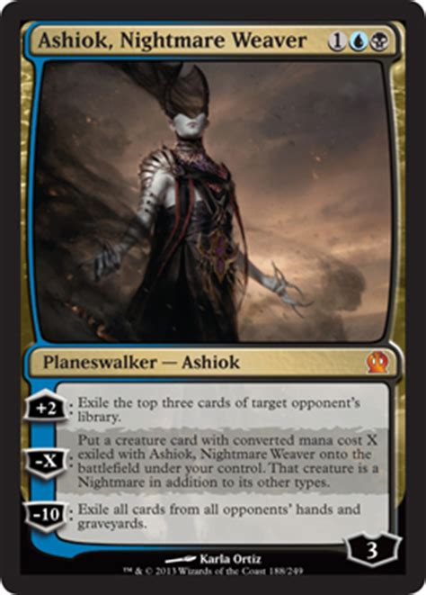 ashiok nightmare weaver theros magic the gathering at planeswalker s library