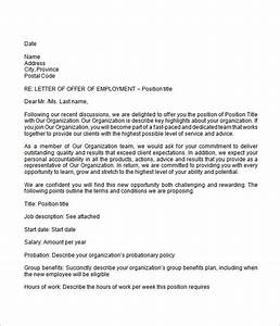 employment offer letter 6 free doc download With offer of employment letter template free