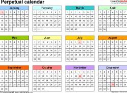 perpetual calendar yangah solen
