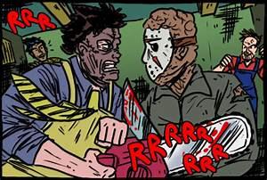 Jason vs Leatherface by theEyZmaster on DeviantArt
