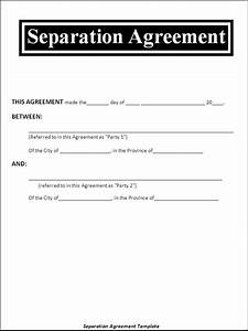 separation agreement template divorce all form templates With seperation agreement template