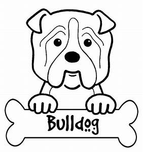 Bulldog Coloring Pictures - Coloring Home