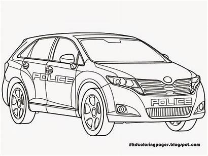 Police Coloring Pages Printable Toyota Security Cars