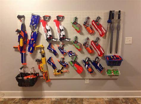 Diy nerf gun storage wall. 1000+ images about nerf on Pinterest | Nerf gun, Nerf gun ...