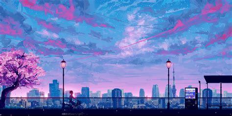 Anime City Scenery Wallpaper - anime cityscape landscape scenery 5k hd anime 4k