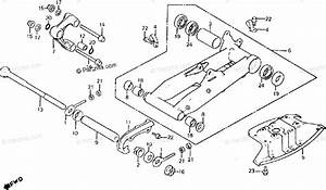 Honda Atv 1985 Oem Parts Diagram For Swingarm    Engine