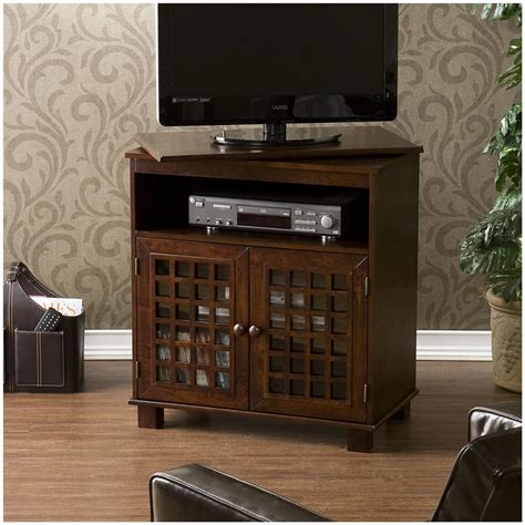 swivel media cabinet narita swivel top media stand 579123 entertainment 2640
