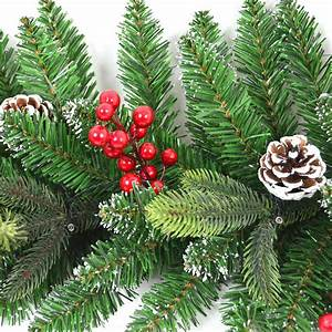 Pre, Decorated, Artificial, Christmas, Trees, Xmas, Pre, Lit, Garland, Wreath, Decorations