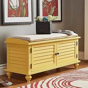 Weston, Home, Georgia, Entryway, Storage, Bench, Yellow, Orange, -, Walmart, Com