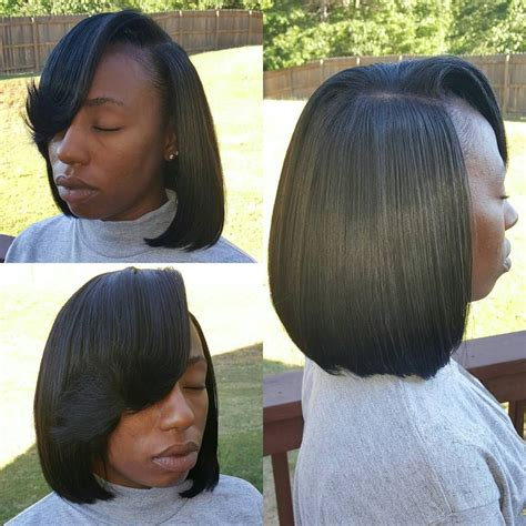 short sew in bob hairstyles fade haircut