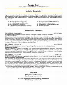 Examples Of Resume Templates Logistics Coordinator Resume Example Auto Manufacturer