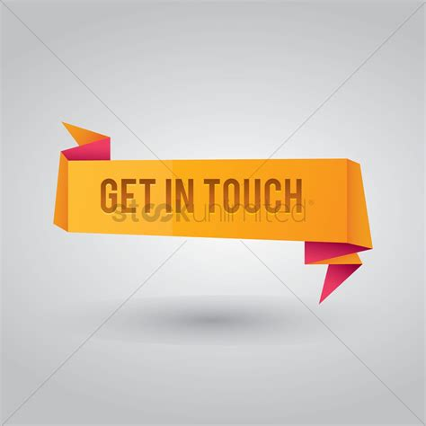 Get In Touch Banner Vector Image  1374462 Stockunlimited