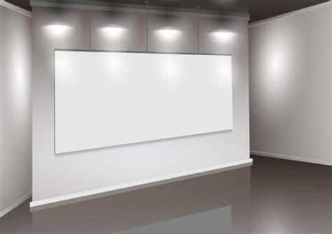 set  interior showroom  light wall vector backgrounds