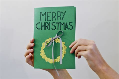 make a card how to make christmas cards if you re not crafty 6 steps