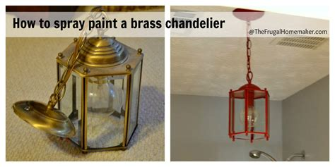 how to spray paint a brass light fixture or the
